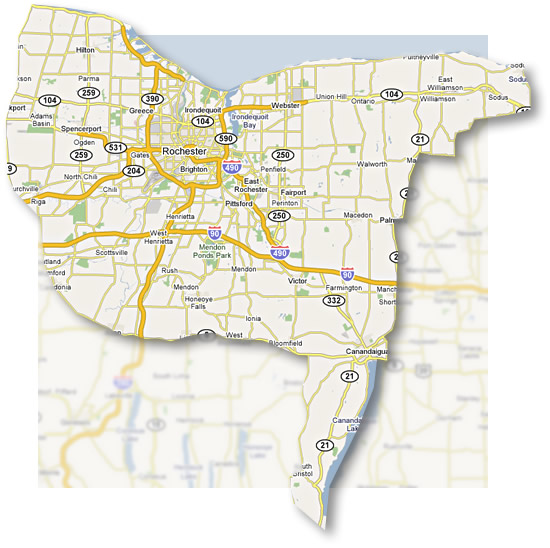 map of central new york