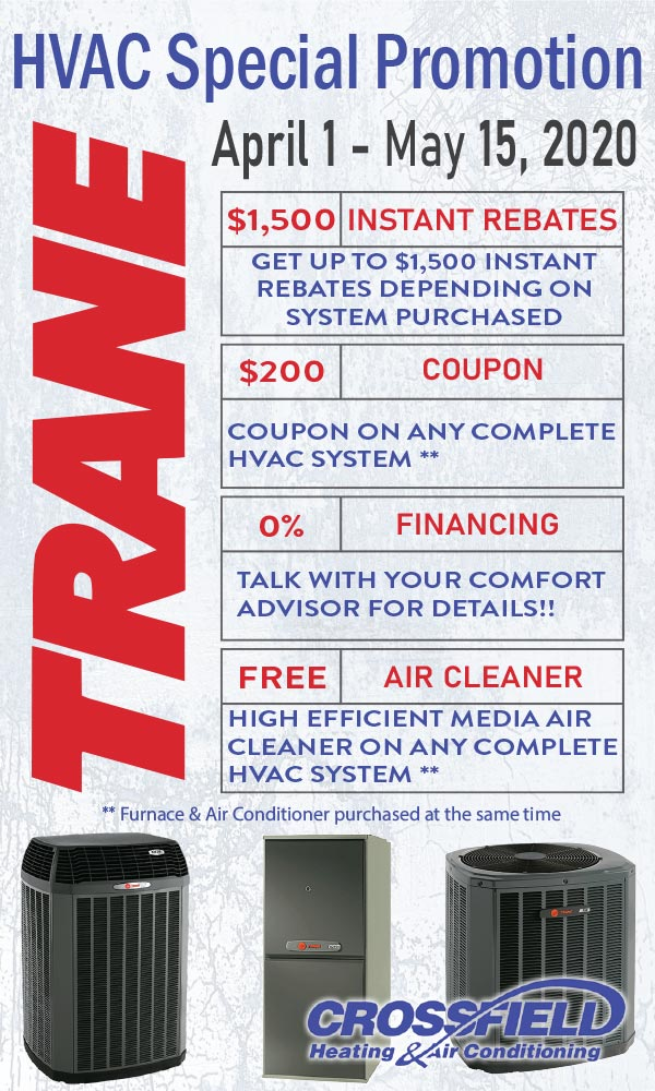 HVAC Special Promotion - April 1 - 15 2020